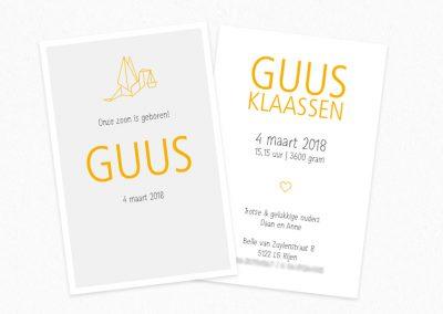Geboortekaartje Guus