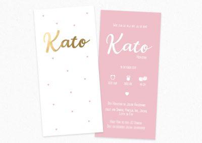 Geboortekaartje Kato